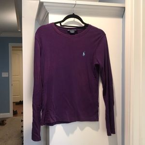 Purple Ralph Lauren long sleeve shirt